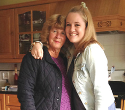 © Licensed to London News Pictures. 16/07/2015.  Collect picture of Tunisia gun massacre victim EILEEN SWANNACK, whose funeral was held toady in Biddestone. Pictured here with her Granddaughter Lorren Swannack. Photo credit: Simon Chapman/LNP