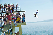 19/07/2013 13 year old Julius Byrne  in Salthill Galway at Blackrock tower in Salthill Galway Picture:Andrew Downes
