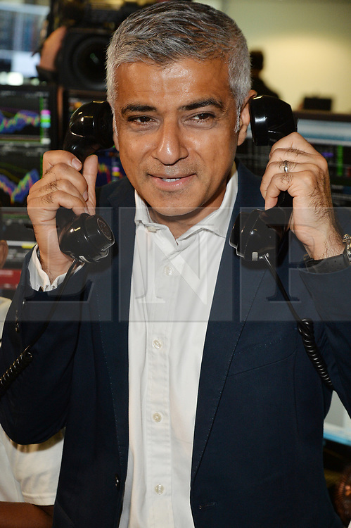© Licensed to London News Pictures. 11/09/2017. London Mayor SADIQ KHAN takes part in the on the annual BGC Partners Charity Day in commemoration of its 658 friends and colleagues and 61 Eurobroker employees lost in the World Trade Center attacks on 9/11. PIcture Credit: Tang/LNP