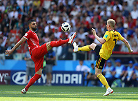 Syam Ben Youssef (Tunisia) and Kevin De Bruyne (Belgium)<br /> Moscow 23-06-2018 Football FIFA World Cup Russia  2018 <br /> Belgium - Tunisia / Belgio - Tunisia <br /> Foto Matteo Ciambelli/Insidefoto