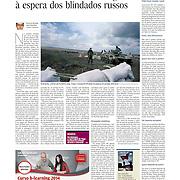 "Tearsheet of ""Ukrainian troops defencive line in eastern border"" published in Expresso"