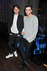 Left to right, PHIL CLIFTON and JAY CAMILLERI at the ZEO 'Just January' Party held at the Buddha Bar, 145 Knightsbridge, London SW1 on 31st January 2013.