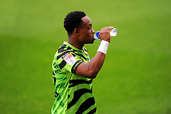 Udoka Godwin-Malife of Forest Green Rovers rehydrates- Mandatory by-line: Nizaam Jones/JMP - 14/11/2020 - FOOTBALL - innocent New Lawn Stadium - Nailsworth, England - Forest Green Rovers v Mansfield Town - Sky Bet League Two
