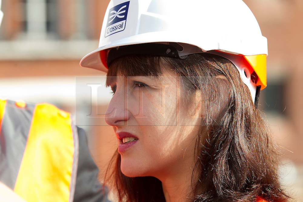 © Licensed to London News Pictures. 05/09/2013. London, UK. Shadow Chief Secretary to the Treasury Rachel Reeves is seen at the site of the Bond Street Crossrail station in London today (05/09/2013). The station forms part of the Crossrail train line, which will be 73 miles (118 km) long when finished in 2018, will connect Maidenhead and Heathrow in the west of London to Shenfield and Abbey Wood in the east, passing under central London to create a new commuter link. Photo credit: Matt Cetti-Roberts/LNP