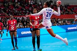 08-12-2019 JAP: Angola - France, Kumamoto<br /> First round President's Cup match Angola - France (17-28) at 24th IHF Women's Handball World Championship. / Pauletta Foppa #26 of France
