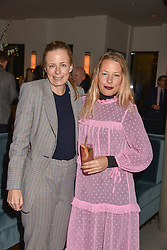 21 November 2019 - Sisters Astrid Harbord and Davina Harbord at the launch of Sam's Riverside Restaurant, 1 Crisp Walk, Hammersmith hosted by owner Sam Harrison, Edward Taylor and Jack Brooksbank.<br /> <br /> Photo by Dominic O'Neill/Desmond O'Neill Features Ltd.  +44(0)1306 731608  www.donfeatures.com