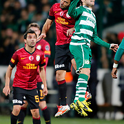 Bursaspor's Selcuk Inan (C) during their Turkish soccer super league match Bursaspor between Galatasaray at the Ataturk Stadium in Bursa Turkey on Saturday, 02 February 2013. Photo by Aykut AKICI/TURKPIX