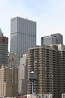 Manhattan skyline from the Brooklyn Bridge