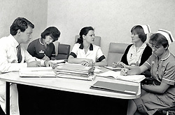 Case conference, Queen's Medical Centre, Nottingham UK 1990