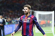Barcelona Gerard Piqué during the Champions League Final between Juventus FC and FC Barcelona at the Olympiastadion, Berlin, Germany on 6 June 2015. Photo by Phil Duncan.