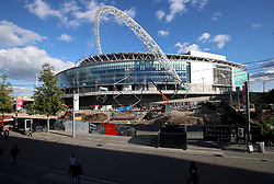 A general view of construction work around Wembley stadium prior to the 2018 FIFA World Cup Qualifying, Group F match at Wembley Stadium, London.