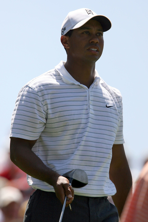09 August 2007: Tiger Woods on the 5th hole during the first round of the 89th PGA Championship at Southern Hills Country Club in Tulsa, OK.