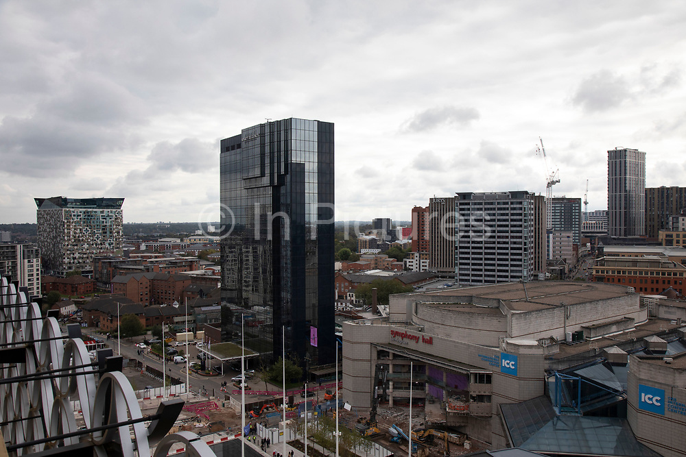 Redevelopment of central area known as Paradise viewed from Birmingham Central Library in Birmingham, United Kingdom. Paradise, formerly named Paradise Circus, is the name given to an area of approximately 7 hectares in Birmingham city centre between Chamberlain and Centenary Squares. The area has been part of the civic centre of Birmingham since the 19th century. From 2015 Argent Group will redevelop the area into new mixed use buildings and public squares.
