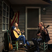 Sadie Grimyates, left, 16, plays country music with her mother Debbie during a Thursday night jam session at the Southwest Virginia Cultural Center and Marketplace in Abingdon, Virginia. The center showcases local crafts, art and music for people passing through the area. Nathan Lambrecht/Journal Communications