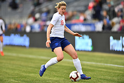February 27, 2019 - Chester, PA, U.S. - CHESTER, PA - FEBRUARY 27: England Forward Ellen White (18) carries the ball in the first half during the She Believes Cup game between Brazil and England on February 27, 2019 at Talen Energy Stadium in Chester, PA. (Photo by Kyle Ross/Icon Sportswire) (Credit Image: © Kyle Ross/Icon SMI via ZUMA Press)