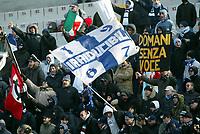 Livorno 11-12-2005<br />Livorno Lazio<br />Campionato  Serie A Tim 2005-2006<br />nella  foto tifosi della Lazio<br />Foto Snapshot / Graffiti