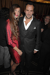 ELIZABETH SALTZMAN and TOM FORD at the launch of the 4th Fashion Fringe - a search to recruit the hottest, undiscovered fashion desugn talent in the UK and Ireland, held at The Bar at The Dorchester, Park Lane, London on 13th March 2007.<br /><br />NON EXCLUSIVE - WORLD RIGHTS