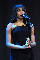 Nicolette Robinson performs at the Bill and Melinda Gates foundation's Goalkeepers event at Jazz at Lincoln Center in New York.