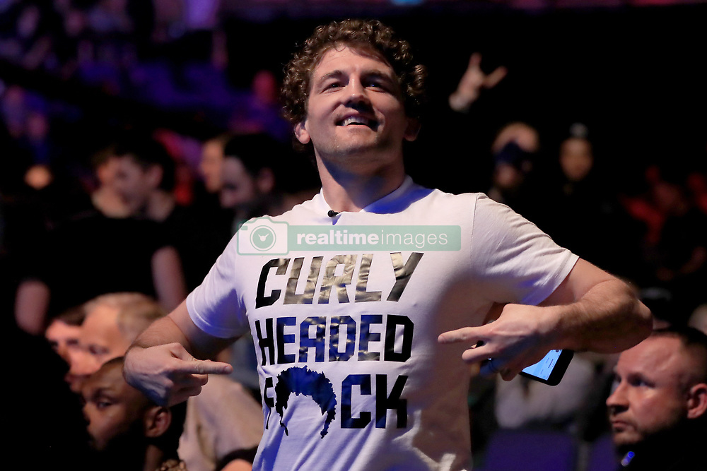 Ben Askren in the crowd during UFC Fight Night 147 at The O2 Arena, London.