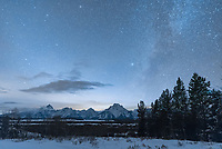 I had a few hours to shoot the stars over the Tetons before clouds would move in.