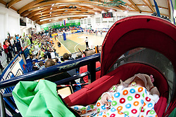 Baby during volleyball match between ACH Volley Bled and UKO Kropa at final of Slovenian National Championships 2011, on April 27, 2011 in Arena SGTS Radovljica, Slovenia. ACH Volley defeated Kropa 3-0 and became Slovenian National Champion 2011. (Photo By Vid Ponikvar / Sportida.com)