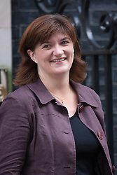 Downing Street, London July 15th 2014. Nicky Morgan MP who takes over from Michael Gove as Education Secretary.