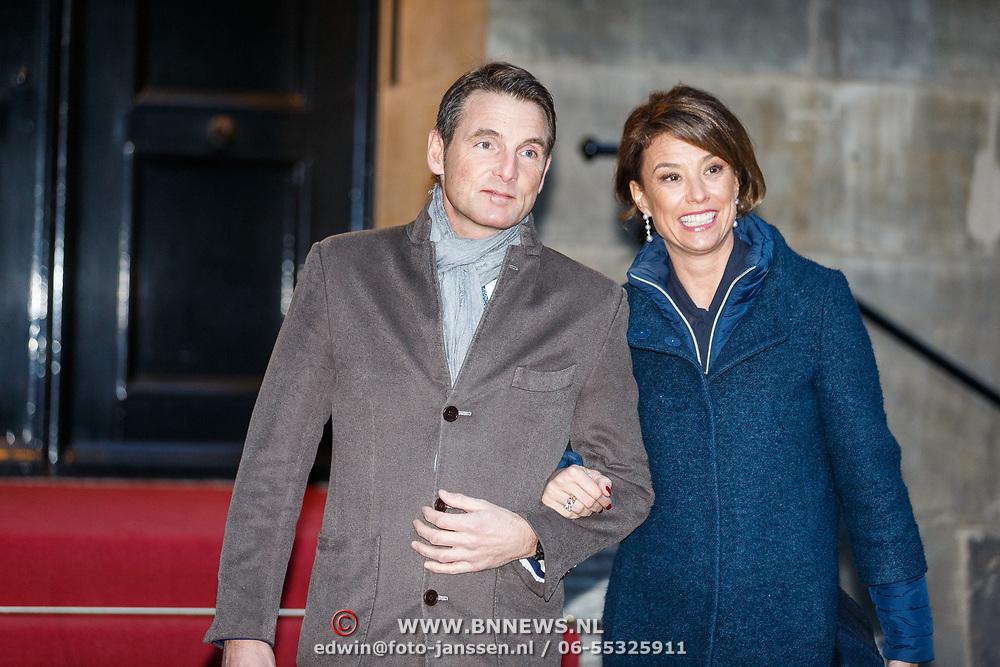 NLD/Amsterdam/20180203 - 80ste Verjaardag Pr.Beatrix, aankomst Maurits van Oranje-Nassau, Van Vollenhoven en partner Marilène van den Broek