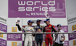 0.09.2010, Hockenheimring, Hockenheim, GER, World Series by Renault, im Bild Daniel Ricciardo (Mitte), Esteban Guerrieri (Links), Jon Lancaster (Rechts), EXPA Pictures © 2010, PhotoCredit: EXPA/ MN