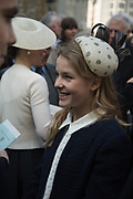 Lady Margarita Armstrong-Jones, , Service of thanksgiving for  Lord Snowdon, St. Margaret's Westminster. London. 7 April 2017JASPER CONRAN,