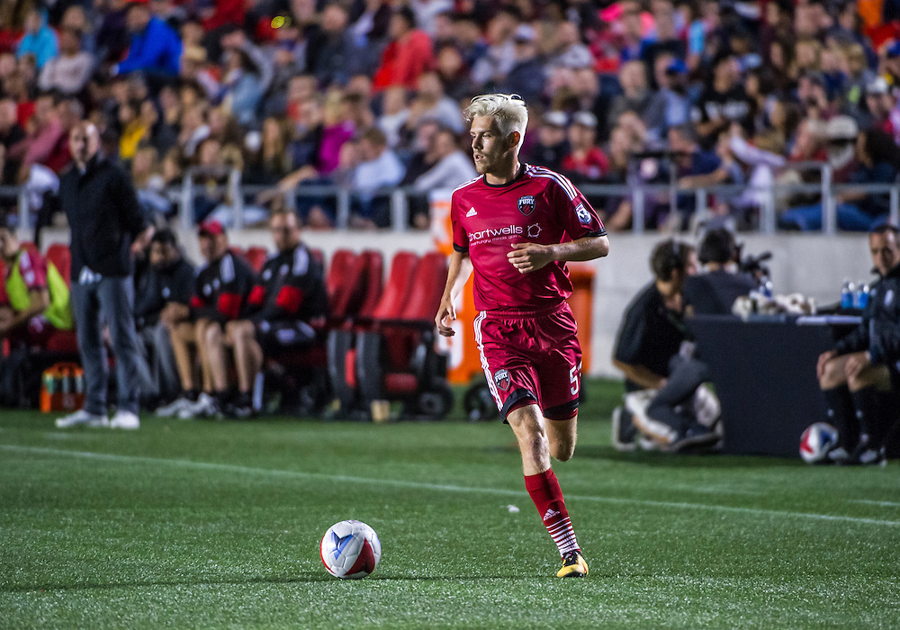 Ottawa Fury FC midfielder Maxime Tissot (#51) during the NASL match between the Ottawa Fury FC and FC Edmonton at TD Place Stadium in Ottawa, ON. Canada on Sept. 2, 2016.<br /> <br /> PHOTO: Steve Kingsman/Freestyle Photography