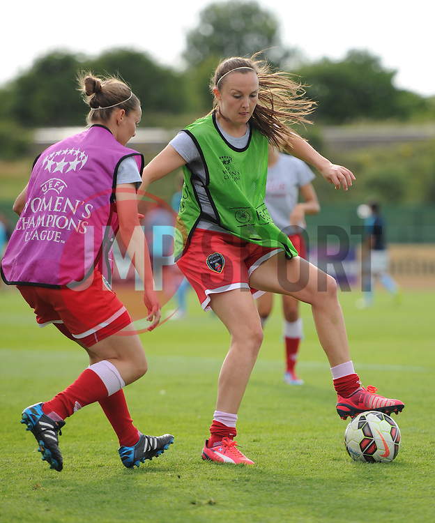 Bristol Academy's Caroline Weir warms up before the FA Women's Super League game between Bristol Academy Women and Manchester City Women on 18 July 2015 in Bristol, England - Photo mandatory by-line: Paul Knight/JMP - Mobile: 07966 386802 - 18/07/2015 - SPORT - Football - Bristol - Stoke Gifford Stadium - Bristol Academy Women v Manchester City Women - FA Women's Super League