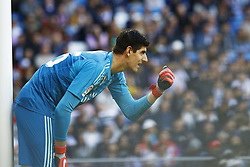 November 3, 2018 - Madrid, Madrid, Spain - Tibaut Courtois (Real Madrid) seen in action during the La Liga match between Real Madrid and Real Valladolid at the Estadio Santiago Bernabéu..Final score Real Madrid 2-0 Valladolid. (Credit Image: © Manu Reino/SOPA Images via ZUMA Wire)
