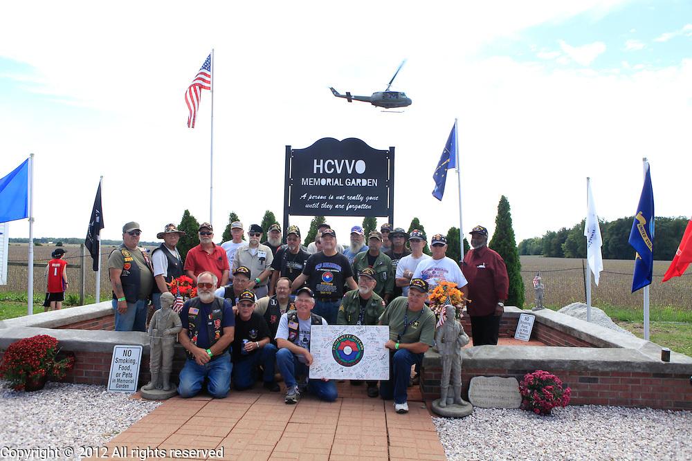 Kokomo Indiana Vietnam Veterans Reunion 2012 9th infantry division group photo