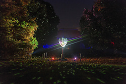 © Licensed to London News Pictures. 22/11/2016. Heart shaped light installation at the Christmas Lights Festival at Kew Garden. London, UK. Photo credit: Ray Tang/LNP