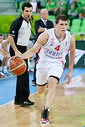 Nemanja Nedovic #4 of Serbia during basketball match between National teams of France and Serbia in 2nd Round at Day 12 of Eurobasket 2013 on September 14, 2013 in SRC Stozice, Ljubljana, Slovenia. (Photo By Urban Urbanc / Sportida)