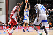 DESCRIZIONE : Campionato 2014/15 Serie A Beko Dinamo Banco di Sardegna Sassari - Giorgio Tesi Group Pistoia<br /> GIOCATORE : Brian Sacchetti<br /> CATEGORIA : Tiro Tre Punti<br /> SQUADRA : Dinamo Banco di Sardegna Sassari<br /> EVENTO : LegaBasket Serie A Beko 2014/2015 <br /> GARA : Dinamo Banco di Sardegna Sassari - Giorgio Tesi Group Pistoia<br /> DATA : 01/02/2015 <br /> SPORT : Pallacanestro <br /> AUTORE : Agenzia Ciamillo-Castoria/C.Atzori <br /> Galleria : LegaBasket Serie A Beko 2014/2015