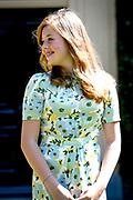 Prinsessen tijdens de Zomerfotosessie 2018 bij de Eikenhorst in Wassenaar<br /> <br /> Summer photo session 2018 at Villa de Eikenhorst in Wassenaar<br /> <br /> Op de foto / On the photo: prinses Alexia / Princess Alexia