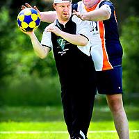 Nederland, Den Bosch, 02-06-2012.<br /> Special Olympics, Spelen voor geestelijk gehandicapten.<br /> Korfbal.<br /> Foto : Klaas Jan van der Weij