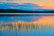 Reflection on Lac des Sables at sunset<br />Belleterre<br />Quebec<br />Canada