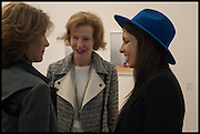 MARYAM SACHS; JULIA PEYTON-JONES; ROYA SACHS, Opening of Frieze art Fair. London. 14 October 2014