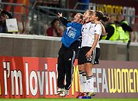 Fotball<br /> EM 2009 kvinner<br /> Semifinale<br /> Tyskland v Norge<br /> Foto: Jussi Eskola/Digitalsport<br /> NORWAY ONLY<br /> <br /> Tyskland feirer avansement