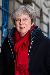 © Licensed to London News Pictures. 02/03/2018. London, UK. Prime Minister Theresa May arrives at Mansion House to deliver her 'Road to Brexit' speech. Photo credit: Rob Pinney/LNP