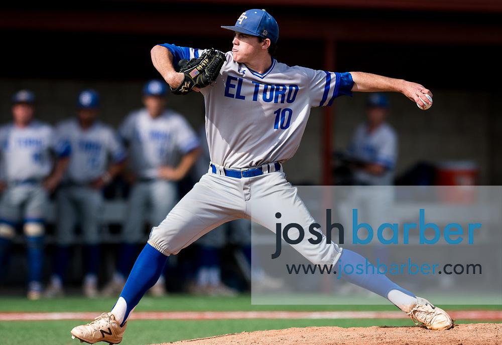 El Toro's Erik Tolman during the CIF-SS Division 1 Baseball Semifinal: El Toro v Mater Dei at Mater Dei High School on Tuesday, May 30, 2017 in Santa Ana, California. (Photo/Josh Barber)