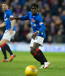 Rangers' Serge Atakayi during the Ladbrokes Scottish Premiership match at Ibrox Stadium, Glasgow. PRESS ASSOCIATION Photo. Picture date: Sunday November 11, 2018. See PA story SOCCER Rangers'. Photo credit should read: Jeff Holmes/PA Wire. EDITORIAL USE ONLY