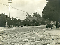 January 22, 1921 Snow on Hollywood Blvd. at Vine St.