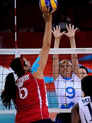 01-09-2012 ZITVOLLEYBAL: PARALYMPISCHE SPELEN 2012 USA - SLOVENIE: LONDEN.In ExCel South Arena wint USA van Slovenie / Stefka TOMIC.©2012-FotoHoogendoorn.nl.