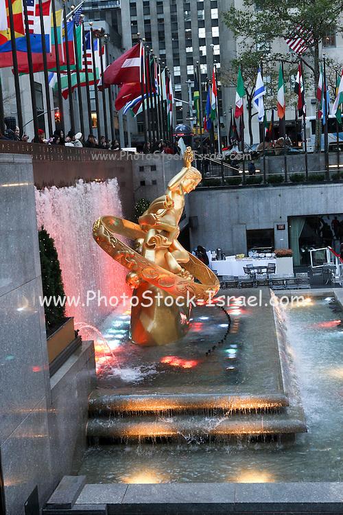 USA, New York City, Rockefeller Plaza