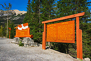 Interpretive sign at the Meeting of the Waters, Yoho National Park, British Columbia, Canada