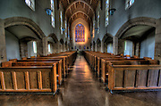 The chapel at St. Andrews Cathedral in downtown Honolulu.