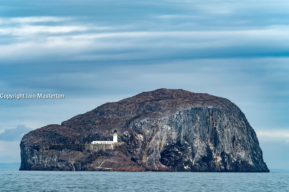 View of Bass Rock in outer Firth of Forth near North Berwick, Scotland, United Kingdom